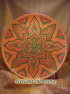 """Купить Декоративная тарелка""""Мандариновый аль-Магриб"""" - Тарелка декоративная, мандариновый, оранжевый цвет, яркая тарелка"""