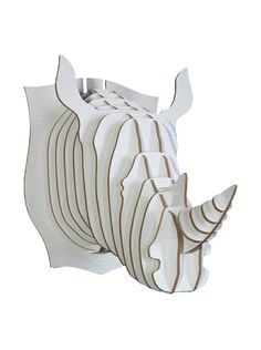 Eco Décor Laser-Cut Animal Trophy Rhinoceros Head,  at MYHABIT