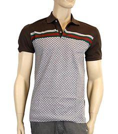 Gucci Men s Cotton Polo GRG Web Top Diamante Shirt (Large) Clout Wear 366a35861