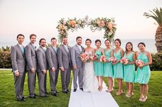 A Wedding by the Sea in Aqua, Coral, and Peach | D. Park Photography | See More! http://heyweddinglady.com/coral-peach-and-aqua-wedding-by-the-sea/