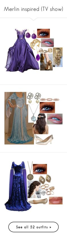 """Merlin inspired (TV show)"" by sophie-swan ❤ liked on Polyvore featuring Zuhair Murad, Dolce&Gabbana, Kate Spade, Carolee, MICHAEL Michael Kors, Her Curious Nature, maurices, Jimmy Choo, Christian Dior and Mudd"