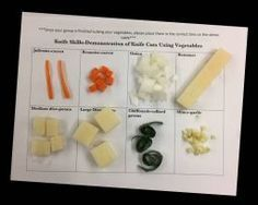 Knife Skills: A Hands-On Lesson & Lab FamilyConsumerSci Cooking In The Classroom, Cooking Classes For Kids, Home Economics Classroom, Kids Cooking Activities, Classroom Activities, Culinary Classes, Culinary Arts, Nutrition Classes, Nutrition Activities