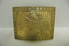 Vintage Wilkinson Export & Co Civil War Eagle Design Collectible Brass Belt Buckle