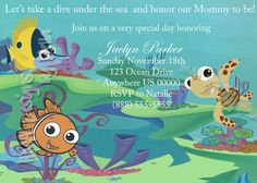 Finding Nemo Invite By HMADesignsbyBella On Etsy, $10.00