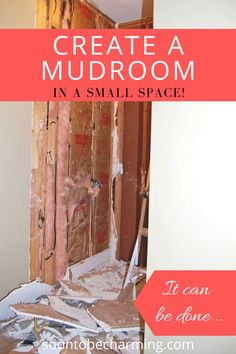 Create a mudroom with no space, yes that is exactly what we did! Creating a mudroom in a small space can be challenging, but it is sure to inspire some great mudroom entryway ideas! If you have create a mudroom on your to do list, this is for you! #createamudroom #createamudroominasmallspace #mudroomentrywayideas #createamudroomwithnospace #mudroommakeover #mudroommakeoverdiy #mudroommakeoveronabudget Entryway Ideas, Diy On A Budget, Diy Kitchen, Mudroom, Small Spaces, Easy Diy, Home Improvement, Diy Projects, Inspire