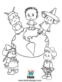 Happy children's day coloring pages - free printable ⋆ BelarabyApps Mandala Coloring Pages, Animal Coloring Pages, Coloring Pages For Kids, Coloring Books, Happy Children's Day, Happy Kids, Fathers Day Coloring Page, International Children's Day, Kindergarten Coloring Pages
