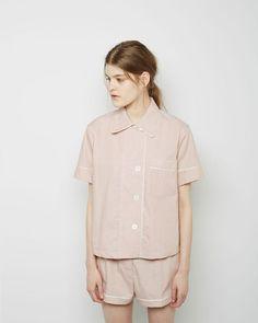 Araks | Shelby Short Sleeve Pajama Shirt | La Garçonne