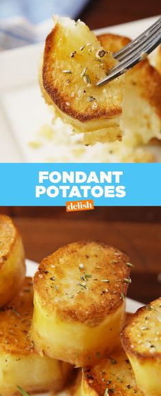 You need to know about Fondant Potatoes. Get the recipe at Delish.com.