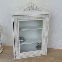 Cream Shabby Chic Glass Door Cabinet