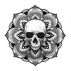 Mandala Crâne #Skull #Mandala #vibes. #skulls #skulltattoo