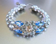 EISENBERG ICE Rhinestone Bracelet Aqua & Light by RenaissanceFair