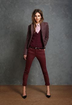 Omg I love maroon and burgandy so much.... Seventeenth & Irving: STYLE TO STEAL - JACK WILLS;
