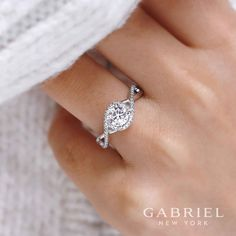 Perfect round engagement ring with spiral arms for @gabrielco!