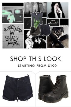 """""""so give me all your poison"""" by byunbunnie ❤ liked on Polyvore featuring CASSETTE, UNIF, OneTeaspoon and Dr. Martens"""