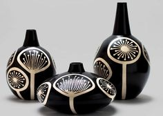 Chulucanas Pottery. Love.Love.Love. I think this black & white is beautiful, the design organic & funky!!!