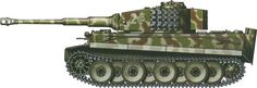 Tiger H/E camouflage patterns - Italy February 1944 sPzAbt508
