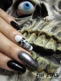 ZigiZtyle: Halloween Skull Nails / Pääkallokynnet