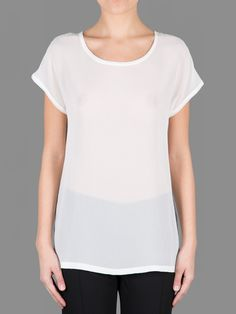 Ann Demeulemeester georgia oversized tee with open back stitch detail #anndemeulemeester
