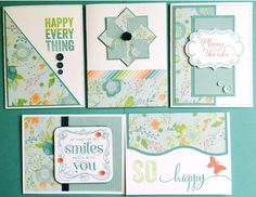 cards by Laura Ryan using CTMH Blossom paper