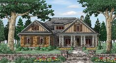 Cottage House Plan with 2295 Square Feet and 4 Bedrooms from Dream Home Source | House Plan Code DHSW077080