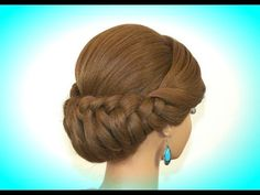 M Holiday Braided Updo Hairstyle for Long Hair. Thanksgiving Hairstyle - YouTube
