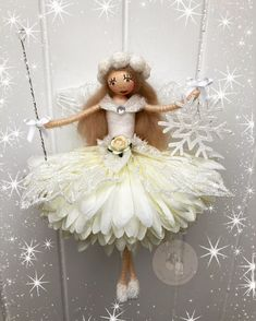 Fairy Crafts, Angel Crafts, Doll Crafts, Christmas Clay, Christmas Fairy, Christmas Crafts, Doll Dress Patterns, Doll Sewing Patterns, Nylon Crafts
