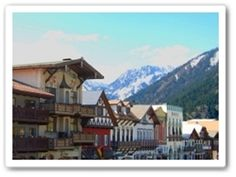 Leavenworth, Washington is one of the neatest towns in the Pacific Northwest. The Bavarian theme is wonderful, especially in the winter.