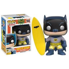 Batman hangs This Batman Classic 1966 TV Series Surf's Up Batman Pop! Ages 14 and up. Batman 1966 TV Series Surf's Up Batman Pop! Pop Vinyl Figures, Funko Pop Figures, Batman Pop Vinyl, Funko Pop Batman, Lego Batman, Surfs Up, Batman 1966, I Am Batman, Batman Stuff
