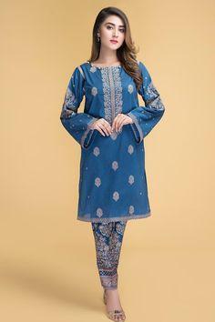 Pakistani Dresses Online, Pakistani Designers, Model Pictures, Blue Fabric, Dress Brands, Designer Dresses, Ready To Wear, Kamiz, Summer Dresses