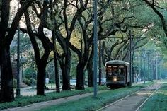Charles Street Trolley in New Orleans, Louisiana
