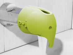 After moving my son from the sink to the tub, one of my biggest concerns was hitting his head on the faucet. So many spout covers are made from hard plastic or rubber! But the Puj Soft Spout Cover does a great job protecting noggins while still looking
