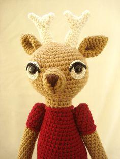 Amigurumi Crochet Deer Doll - USD$75.00