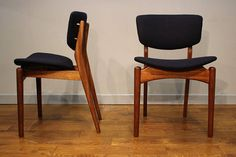 A set of Four Dalescraft Teak Dining Chairs.