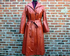 Vintage Leather Trench @ http://www.etsy.com/shop/FrequencyVintage