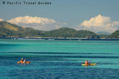 Kayaking at Mana Island Resort, #Fiji via BeautifulPacific.com