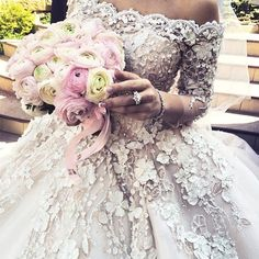 *-* Close up details of the divine bridal gown from master couturiers at J'Aton Cout.. - Explore, share, follow the best styles and fashion trends | Get2Style.com