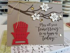 I'msharing a few projects created by some of my very talented Stampin' Up! team members with you all again today. Leslie Larkin created this awesomecard! Leslie is a stamper fromBogart, GA. Yo…