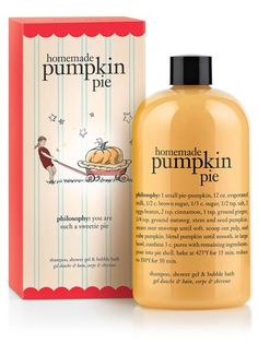 This pumpkin product is a triple threat- shampoo, shower gel & bubble bath!
