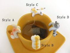 Your place to buy and sell all things handmade Fimo Clay, Polymer Clay Charms, Tea Holder, Funny Cups, Biscuit, Clay Mugs, Ceramic Animals, Great Housewarming Gifts, Cat Lover Gifts
