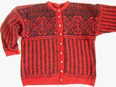 Vintage Norwegian cardigan Scandinavian Sweater by TasteVintage