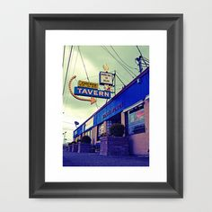 Local tavern Framed Art Print by Vorona Photography - $33.00