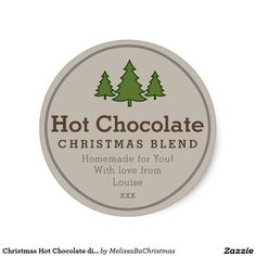 Christmas Hot Chocolate diy gift sticker