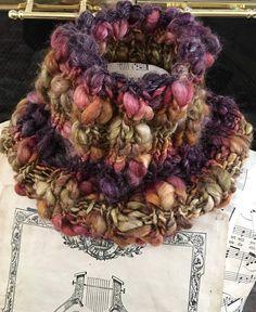 Cowl Hand Knit from Handspun Art Yarn Neckwarmer Scarf