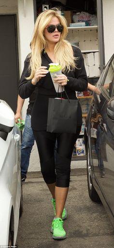 New do: Khloe Kardashian spent five hours in a Beverly Hills hair salon on Thursday before...