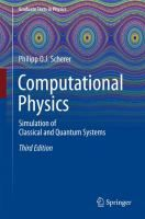 """Read """"Computational Physics Simulation of Classical and Quantum Systems"""" by Philipp O. Scherer available from Rakuten Kobo. This textbook presents basic numerical methods and applies them to a large variety of physical models in multiple comput. Monte Carlo Method, Molecular Dynamics, Book Format, Textbook, Texts, This Book, Ebooks, Presents, Science"""