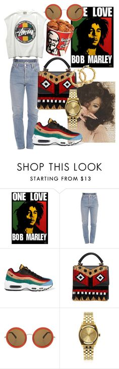 """one love"" by annabidel ❤ liked on Polyvore featuring Stussy, Vetements, NIKE, The Row, Nixon and Bling Jewelry"