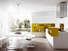 Die Moderne Einbauküche Mit Kochinsel Ist Eine Funktionale Und  Platzsparende Variante, Die Gleichzeitig Mit Einem Minimalistischen Look  Fasziniert.