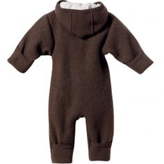Wollwalk Overall für Babys, Schoko, von Disana