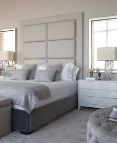 A simple headboard will add an elegant touch to your bedroom.