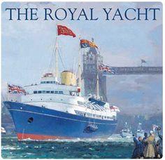 The Royal Yacht Britannia. El Britannia fue hasta el 1997 el yatch oficial de la familia reinante inglesa.  Ahora está amarrado en el puerto de Edimburgo y fue abierto a las visitas.